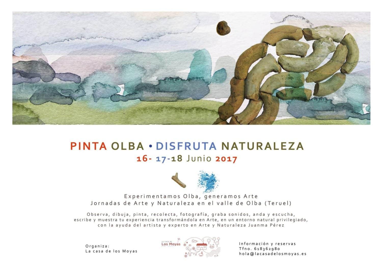 Cartel jornada Pinta Olba arte en el medio rural