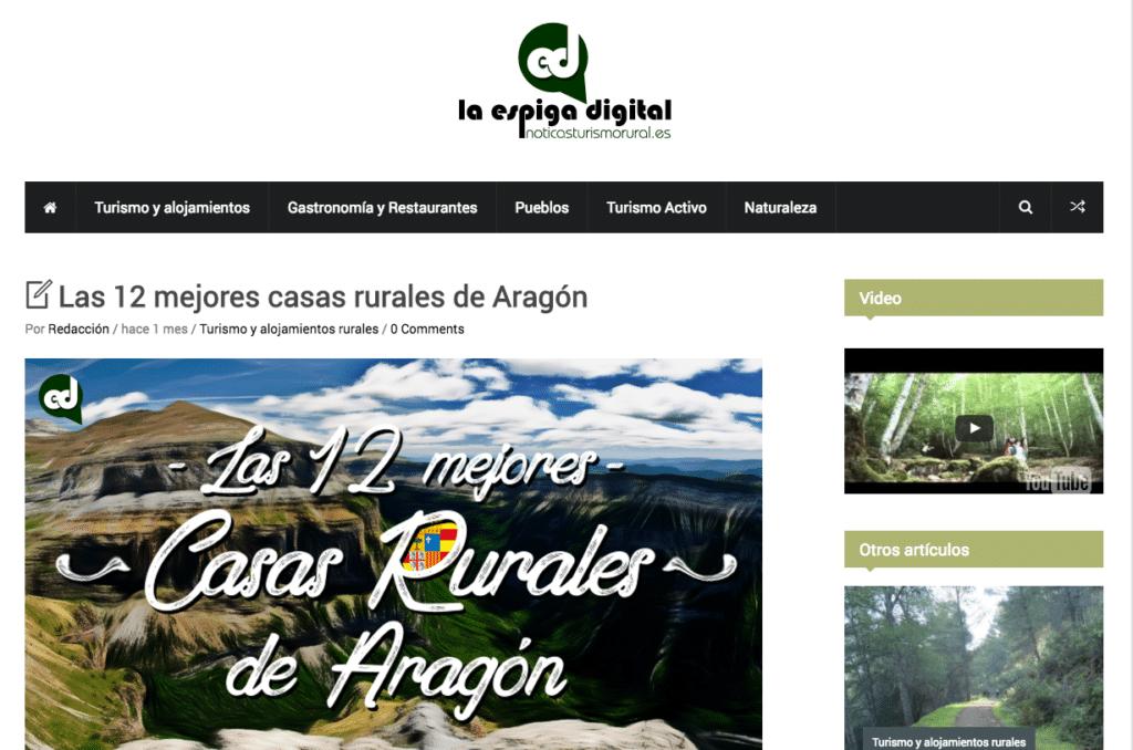 Noticia: Las 12 mejores casas rurales de Aragón