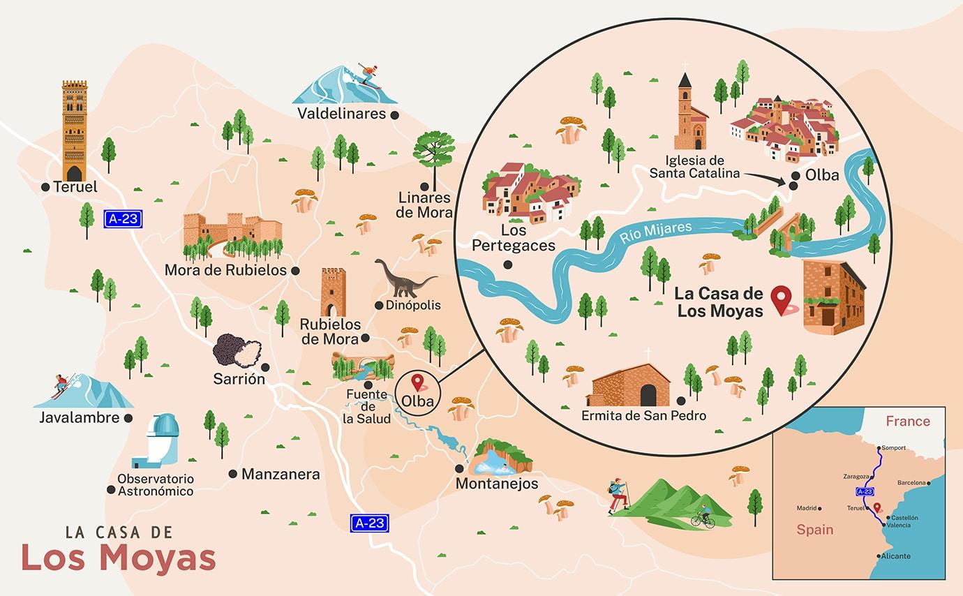La Casa de Los Moyas Olba - Casa Rural en Teruel